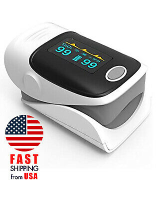 Oled Finger Fingertip Pulse Oximeter Blood Oxygen Spo2 Heart Rate Monitor Ce New