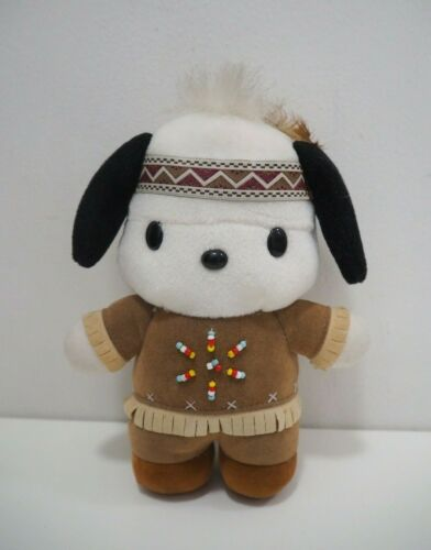 "Pochacco Sanrio Indian costume Eikoh 2000 Plush 7"" Stuffed Toy Doll Japan"