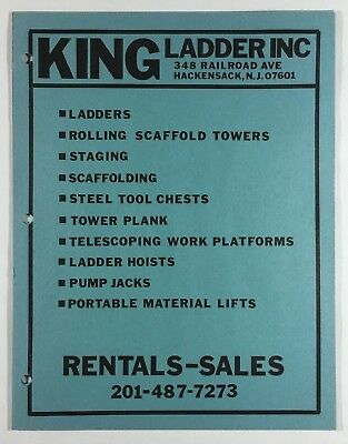 Vintage King Ladder Brochure Catalog Construction Equipment Hackensack Nj 1970s