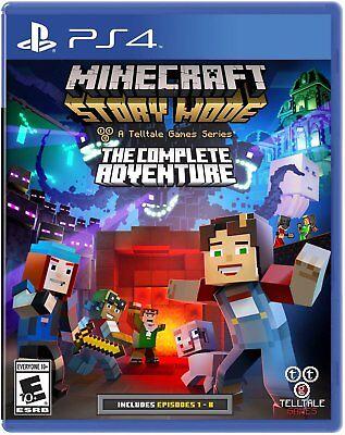 Minecraft: Story Mode - The Complete Adventure [PlayStation 4 PS4, Mojang] (Minecraft Story Mode Ps4 The Complete Adventure)
