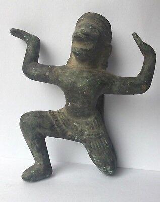 Rare Hanuman Divinity Monkey Antique Figure Bronze Khmer Cambodia Asia