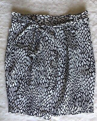 Zara Basic High Waist Belted Animal Print Skirt Medium Multi  (Flaw) Belted Animal Print Skirt