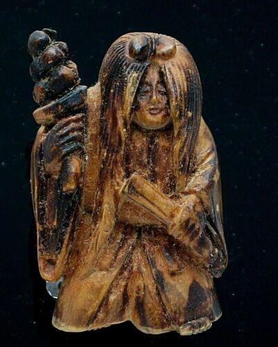 Vintage Japanese Carved Wood Netsuke
