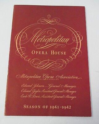 March 1942 METROPOLITAN OPERA HOUSE Program, Wagner's Tannhaeuser