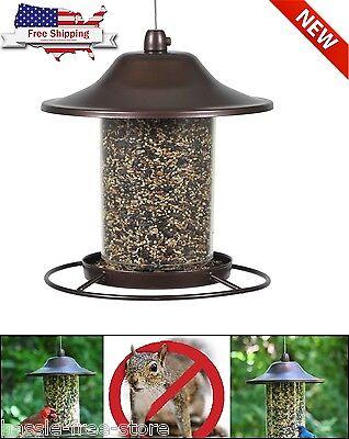 Hanging Bird Feeder Seed Metal Wild Pet Outdoor Garden Squirrel Proof New