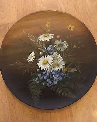 19th Century Painted Ceramic Plate J. Hutchinson