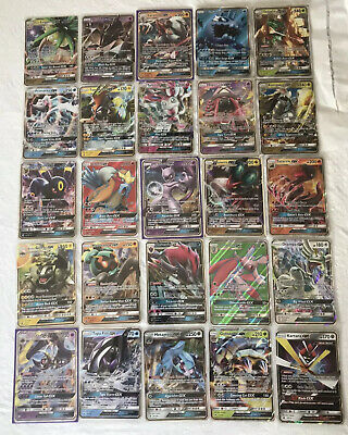 Pokémon GX Cards Lot Tapu Lele, Mewtwo, Zoroark, Lycanroc 25 Cards Mint