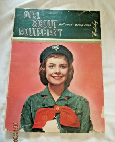1958-59 Girl Scout CATALOG USED, BARGAIN Price COLLECTOR Research GIFT Combine