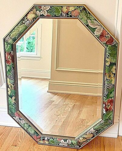 Vintage Uttermost Inc. Italian Botanical Octagon Mirror-Made In Italy MINT!!!!
