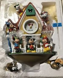 Disney Micky Mouse Limited Edition Cuckoo Clock Bradford Exchange New