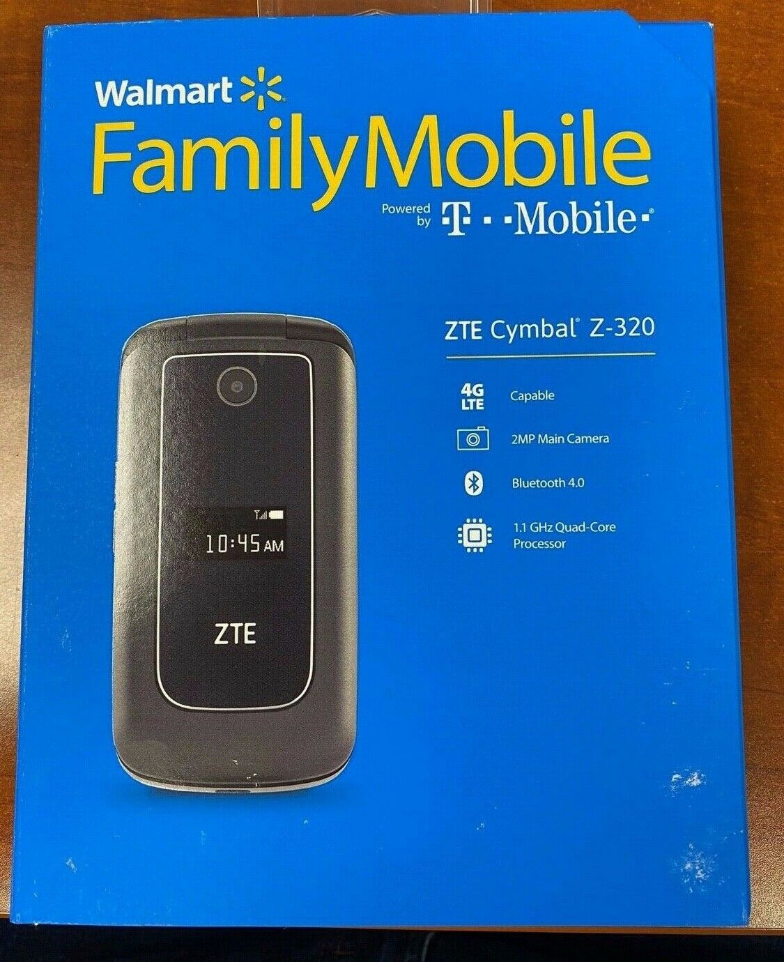 New ZTE Cymbal Z-320 4G LTE  Bluetooth Camera Flip Phone