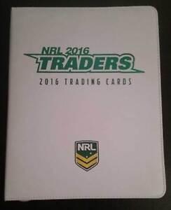 2016 ESP NRL Traders Album / Folder with Complete 161-Card Common Base Set