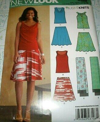 New Look 6108 Misses' Just 4 Knits Drape Neck Tops Skirt Sz 4-16  UC   ()