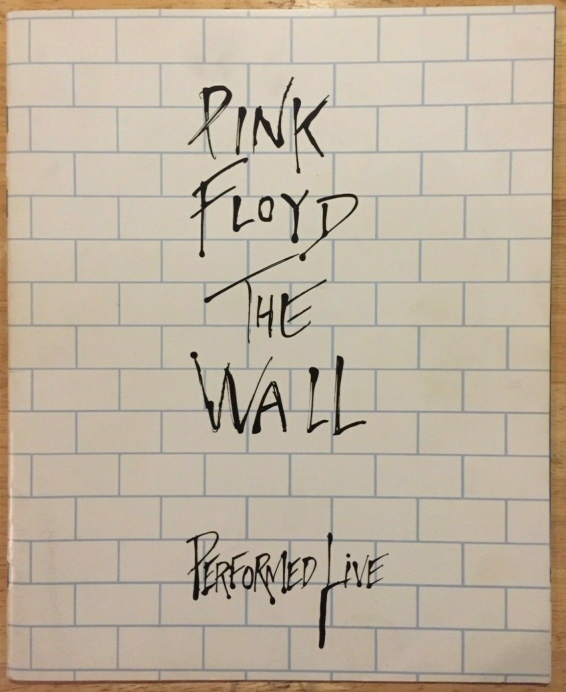 PINK FLOYD The Wall Performed Live 1980 U.S. 24 Page Tour Book Concert Program - $50.00