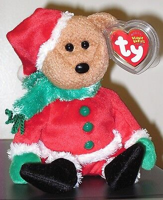 Ty Beanie Baby ~ KRINGLE the Holiday Bear ~ MINT with MINT TAGS