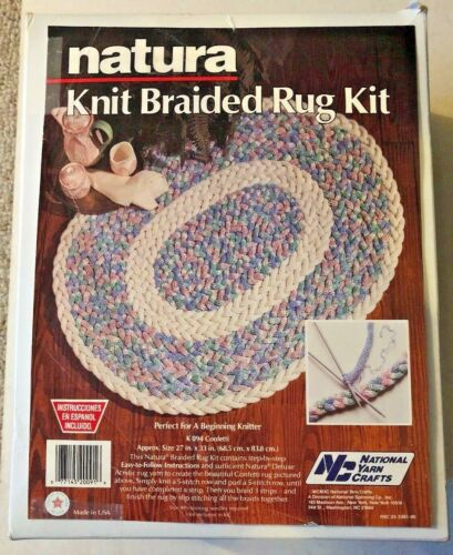 "Natura Confetti 27"" X 33"" Knit Braided Rug Kit New 1990"