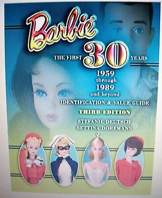 VINTAGE BARBIE DOLLS PRICE GUIDE 1959-1989 COLLECTOR BOOK LAST ONE PRINTED