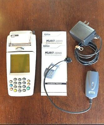Lipman Nurit 8000 Wireless Palmtop Solution Credit Card Machine