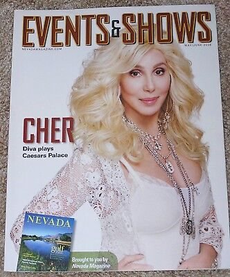 NEW MAY/JUNE 2008 EVENTS & SHOWS MAGAZINE CHER COVER & ARTICLE CAESARS VEGAS