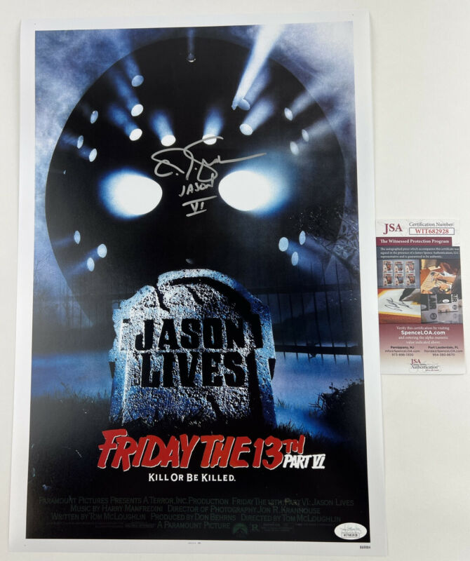 CJ GRAHAM signed 12x18 Poster Friday the 13th Part VI 6 Jason Lives Voorhees JSA