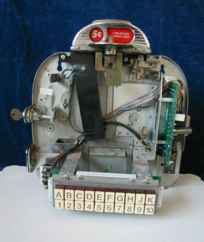 Working Seeburg 3W1 Wallbox Jukebox Back Johnny Rockets Conversion #2
