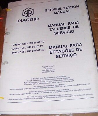 PIAGGIO ENGINE 125 / 180cc 4T 4V SERVICE STATION MANUAL
