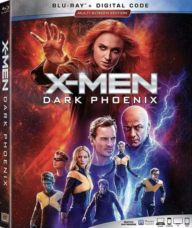 X-MEN DARK PHOENIX(BLU-RAY+DIGITAL)W/SLIPCOVER NEW