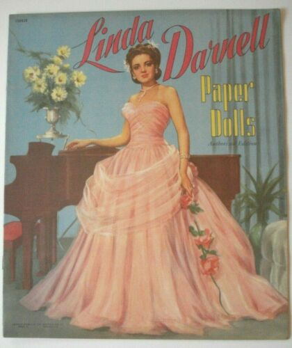 Vintage Linda Darnell Paper Dolls  Uncut Book #1584  Saalfield Publishing  1953