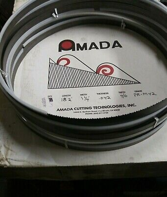3 Pcs Amada 18 2218x1-14 .042 46 Tooth Protector M42 Band Saw Blades