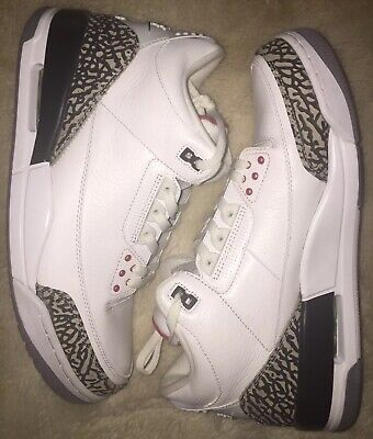 reputable site 9bd61 ab341 Air Jordan 3 Retro 88 White Fire Red Cement Grey Black - size 12 2012 JTH  FTL