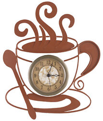 Metal Coffee Clock