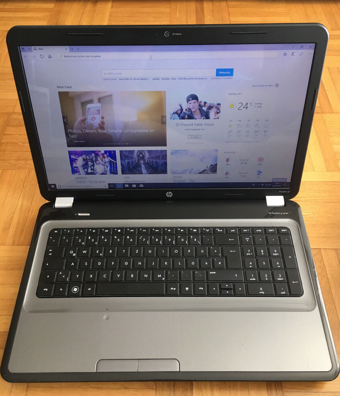 Laptop Notebook HP Pavilion g7 17 Zoll RAM 4GB, WLAN, Windows 10 Original
