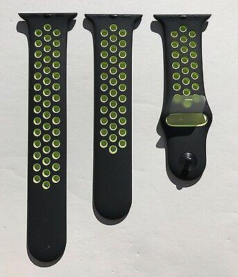 New Apple Watch Series 2 Nike+ 42mm Black Volt Sport Band Nike S/M & M/L OEM