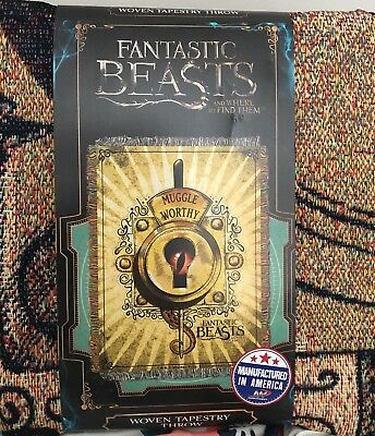 Fantastic Beasts Woven Tapestry Throw! Brand new and made in USA