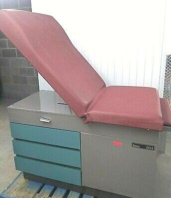 Midmark Ritter 104 Medical Exam Table Bed 5 Drawersstep 120v Outlets 100-025 2