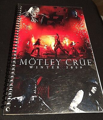 MOTLEY CRUE- 2009 Tour Itinerary-RARE- Nikki Vince Tommy Mick Band & Crew