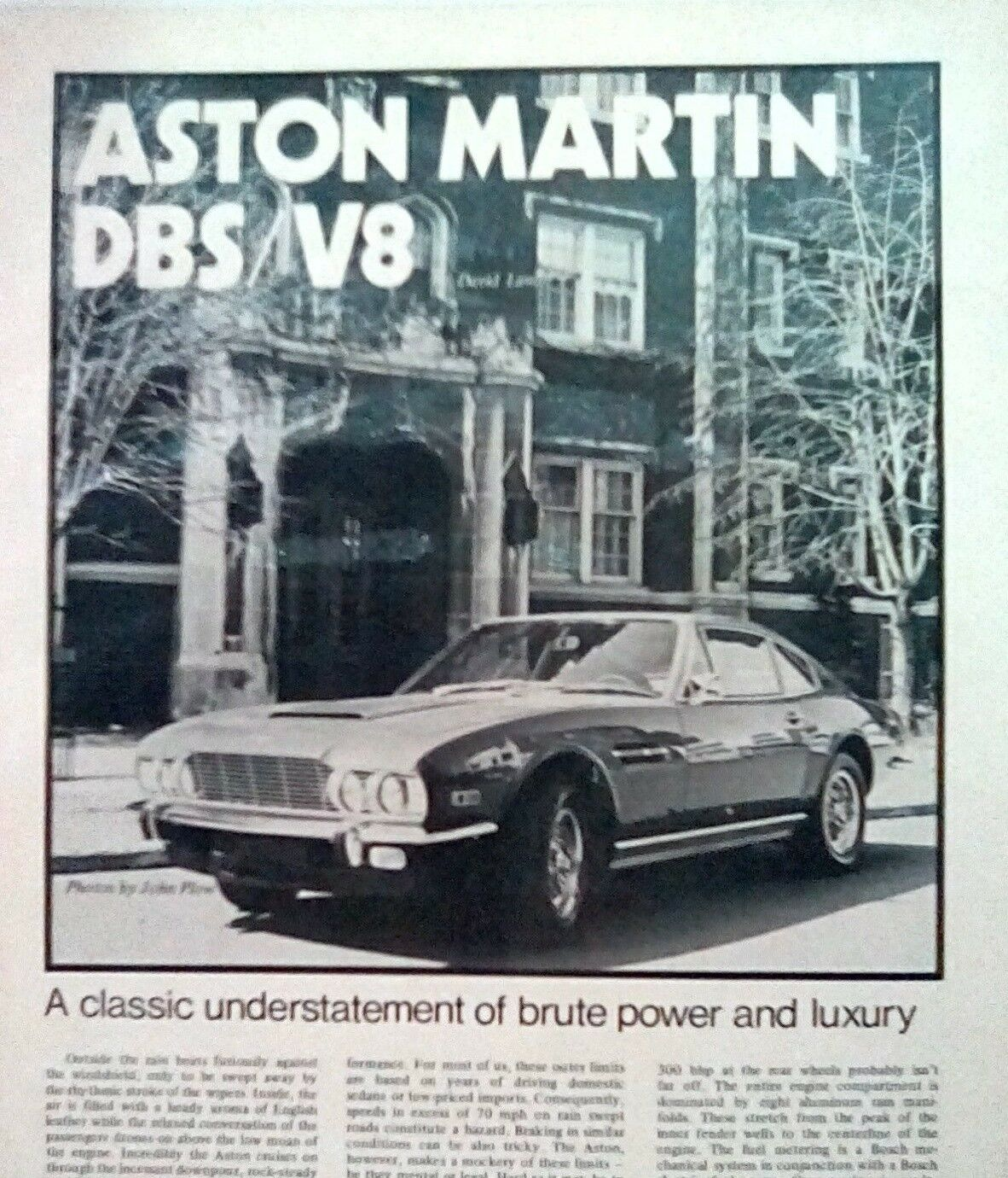 ASTON MARTIN V8 SALOON CARB MODEL CHASSIS NO V811001 TO V812031 PARTS MANUAL
