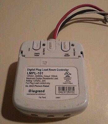 Lot Of 2 - Legrand Wattstopper Lmpl-101 Dlm Plug Load Controller 20a 120v 60hz