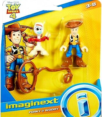 Disney Toy Story 4 Forky & Woody Figure Fisher Price Imaginext New In Package!