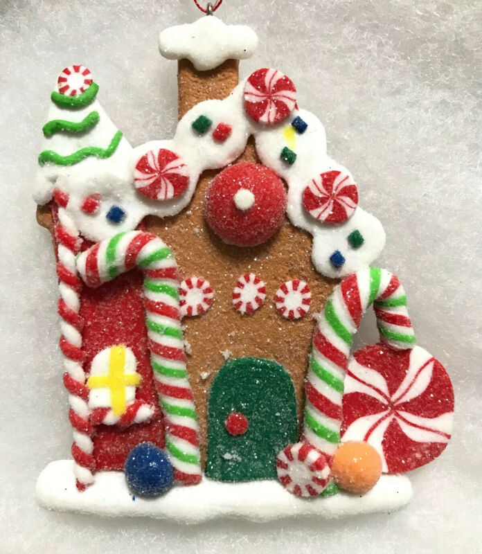 Gingerbread House Cookie Christmas Ornament, Tree Decor, Candy, Sweets