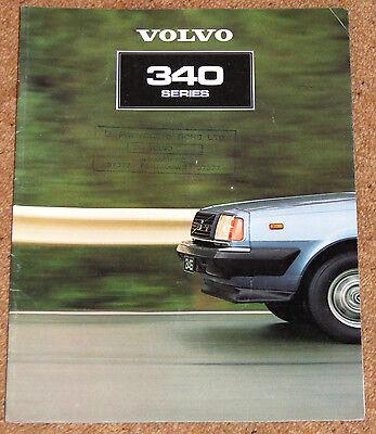 1981 VOLVO 340 SERIES Sales Brochure - 343DL 343GL 345DL 345GL