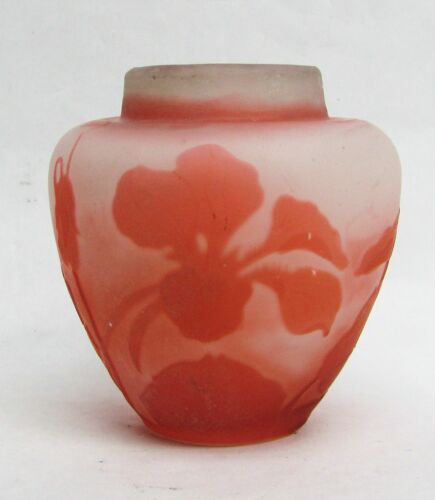 "GALLE PINK CAMEO 2 1/2"" VASE"