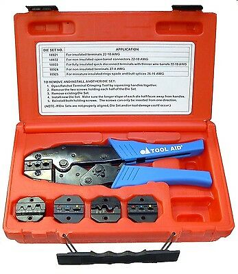 Tool Aid Ratcheting Terminal Crimper Kit With 5 Dies 18920 -