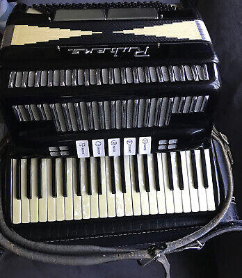 Vintage Rubens Black And White Accordion 24 White 17 Black And 120 Black Button