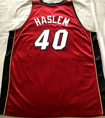 Udonis Haslem Miami Heat 2006 NBA Finals authentic Adidas red game model jersey
