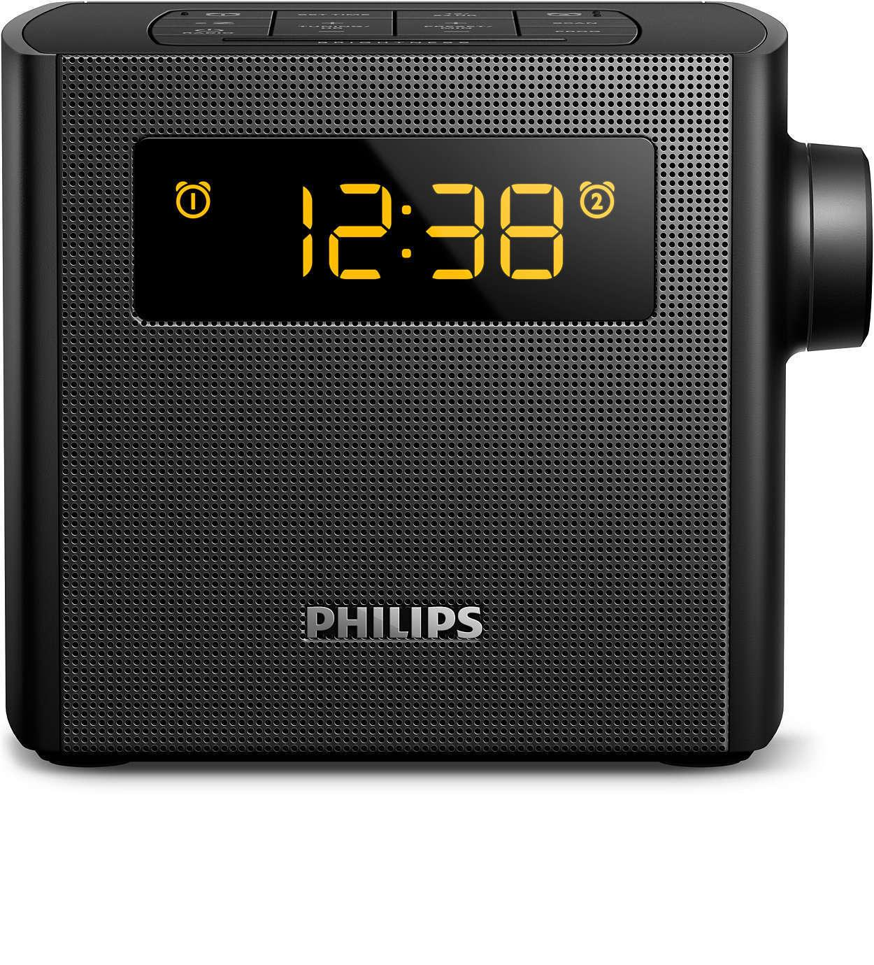 PHILIPS AJ4300B Clock Radio AJ4300 B FM Digital tuning Dual alarm Time & alarm