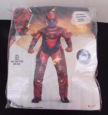 Red Spartan - Halo Costume - Disguise - Adult Size XXL - Muscle - Full Helmet - Red Halo Costume