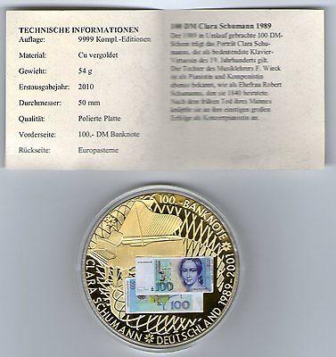 Deutsche Banknoten-Prägung 100 DM Clara Schumann