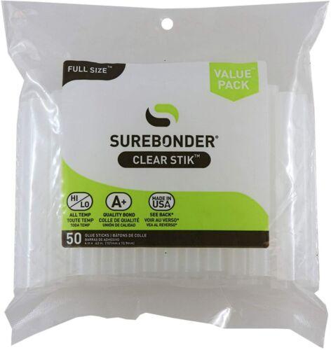 Clear Hot Melt Glue Gun Sticks 11mm Full Size Lot Bulk 50 Count All Surface New