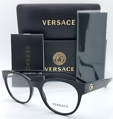 NEW Versace RX Frame Classic Glasses VE3268 GB1 51m Black AUTHENTIC women 3268